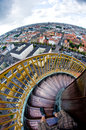 Amazing Effect - Round Tower Stairs Make One Feel Sick Royalty Free Stock Photo - 27748535