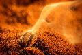Aroma Of Coffee Seeds Roasting Royalty Free Stock Photo - 27749475