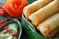Crispy Chinese Traditional Spring Rolls Food Stock Photography - 27750452