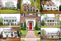 Large American Luxury Homes Collage Stock Image - 27750931