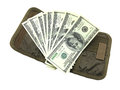 Dollar With Wallet Royalty Free Stock Images - 27752279
