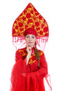 Woman In Russian Traditional Clothes. Royalty Free Stock Images - 27758169