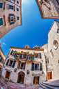 Fish-eye View Of The Old City On Sky Background Stock Photo - 27766040