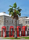Phone Booths In Bermuda Stock Photo - 27767070