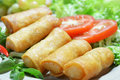 Crispy Chinese Traditional Spring Rolls Food Royalty Free Stock Photo - 27768895