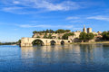 Avignon Bridge And Popes Palace, France Royalty Free Stock Photography - 27769057