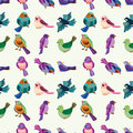 Seamless Bird Pattern Stock Photo - 27772030