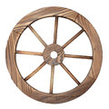 Old Wooden Wagon Wheel On White Stock Images - 27778054