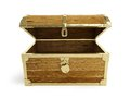 Old Wooden Chest Open Stock Images - 27785404