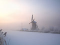 Winter Sunrise In Holland Stock Images - 27786734