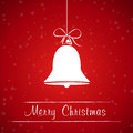 Red Christmas Bell Frame Royalty Free Stock Photo - 27790075