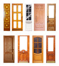 Set Of Wooden Doors. Isolated On White Royalty Free Stock Image - 27793176