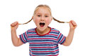 Little Girl With Pigtails Royalty Free Stock Image - 27794876