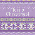Vector Seamless Knitted Pattern With Snowflakes Royalty Free Stock Photos - 27795288
