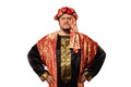 Man With An Arabian Costume. Carnival Royalty Free Stock Images - 27800589