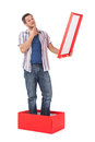 Man Standing In A Box Stock Photo - 27807220