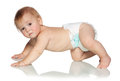 Crawling Baby Royalty Free Stock Images - 27813819