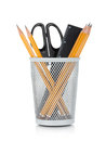 Pencils, Ruler And Scissors Royalty Free Stock Images - 27822779