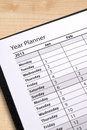 Diary Year Planner Stock Images - 27824764