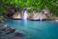 Erawan Waterfall In Thailand Royalty Free Stock Image - 27832106