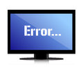 Error Message On A Monitor Stock Photo - 27839150