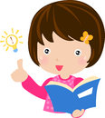 A Girl Reading A Book Royalty Free Stock Photo - 27845365