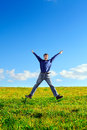 Young Man Jumping Royalty Free Stock Images - 27849329
