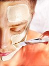Clay Facial Mask In Beauty Spa. Stock Photo - 27849680