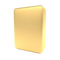 Gold Blank Box Isolated On White Stock Photos - 27850523