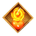 Roses And Heart Shaped Candle Royalty Free Stock Photo - 27854465