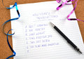 New Year S Resolutions And Ribbons Royalty Free Stock Image - 27860606