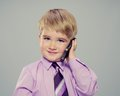 Boy With Mobile Phone Stock Photo - 27863400