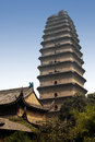 Small Wild Goose Pagoda - Xian - China. Royalty Free Stock Image - 27864376