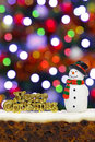 Christmas Cake And Snowman Royalty Free Stock Photo - 27867615
