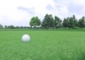 Golf Ball On A Green Stock Photography - 27867742