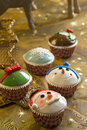 Christmas Cupcakes Royalty Free Stock Images - 27876919