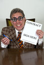 Funny Used Car Salesman Or Crooked Banker, Lawyer Royalty Free Stock Photo - 27877485