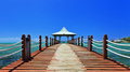 Wooden Walkway, Mauritius Stock Photos - 27880263