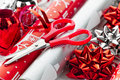 Christmas Wrapping Paper Rolls Stock Photography - 27881312