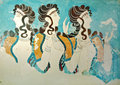 Ancient Fresco From Knossos, Crete, Greece Royalty Free Stock Photography - 27886277