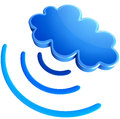 Digital Transmitter Sends Signals From Clouds Stock Images - 27897034