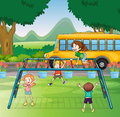 Kids And Monkey Bar Stock Images - 27898264