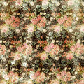 Vintage Grungy Distressed Floral Rose Wallpaper Stock Images - 27901594