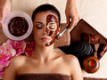 Spa Therapy For Woman Receiving Cosmetic Mask Stock Photography - 27903742