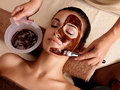Spa Therapy For Woman Receiving Cosmetic Mask Stock Photos - 27903753