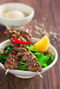 Grilled Chicken Hearts Stock Photo - 27907400