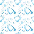 Seamless Pattern Of School Bag And Supplies Stock Images - 27907784