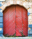 Old Wooden Door, Riga, Latvia Royalty Free Stock Photography - 27911427