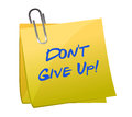 Don T Give Up Message Stock Photography - 27914362