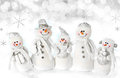 Christmas Snowman Family Royalty Free Stock Photo - 27935535